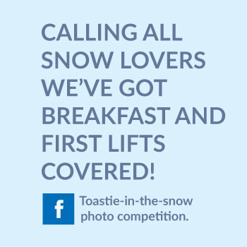 calling all snow lovers. We've got breakfast and first lifts covered!