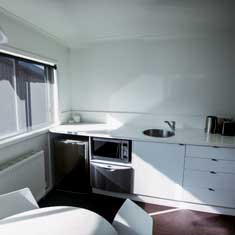 fully featured kitchenette
